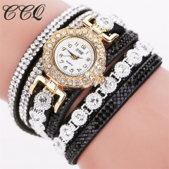 Women's Fashion Watch Quartz Wristwatches Bracelet Fashion Accessory Gift Men Women 14-26cm black