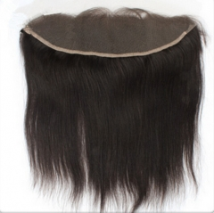13*4 Ear To Ear Lace Frontal Brazilian Hair Natural Black 12 inch