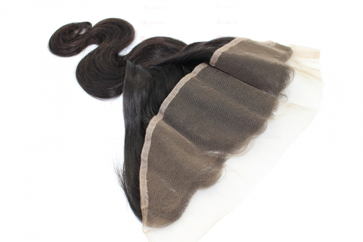 FLOWER DANCE 8A Virgin Brazilian Hair 13*4 Frontal Body Wave natural color 12 inch