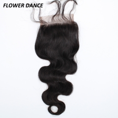4*4 Lace Closure 7A Virgin Brazilian Hair From China Factory natural black 14 inch