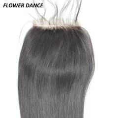 7A Virgin Brazilian Hair 4*4 Lace Closure, Free Part Top Closure natural black 8 inch