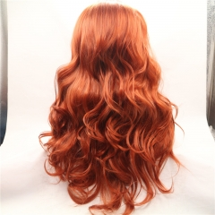 Long Wavy Wigs Deep Body Wave Synthetic Lace Front Wig Brown general