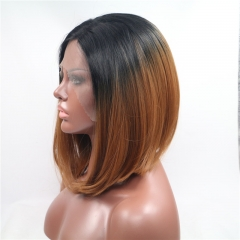 Fashionable Bob Style Lace Wig For Girls 1b/brown general