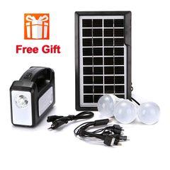 FBK Solar Panel Charging/Discharging Camping Lighting Lamp System Device black 2.0kg
