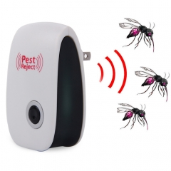 Electronic Pest Repeller Ultrasonic Rejector for Mouse Bug Mosquito Insect White One Size