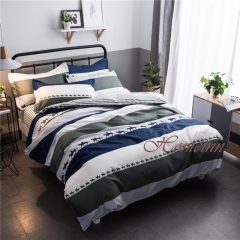Homeinn Brand Running Horses and Stripes 4Pcs Duvet Cover Bedding Set for Bedroom Domitory as picture 5*6