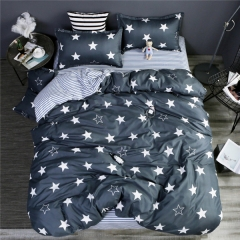 Homeinn Stars Printed Cotton 4Pcs Duvet Cover Bedding Set for Bedroom Domitory as picture 4*6