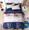 Homeinn Geometric Blue and Gray Polyester 4Pcs Duvet Cover Bedding Set as picture 5*6