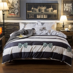 Homeinn Polyester Cotton Blended 4Pieces Bowknots Printed Bedding Set/Duvet Cover Set as picture 4*6