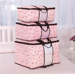Foldable Storage Bag Organizer Great for Clothes Blankets Closets Bedrooms S