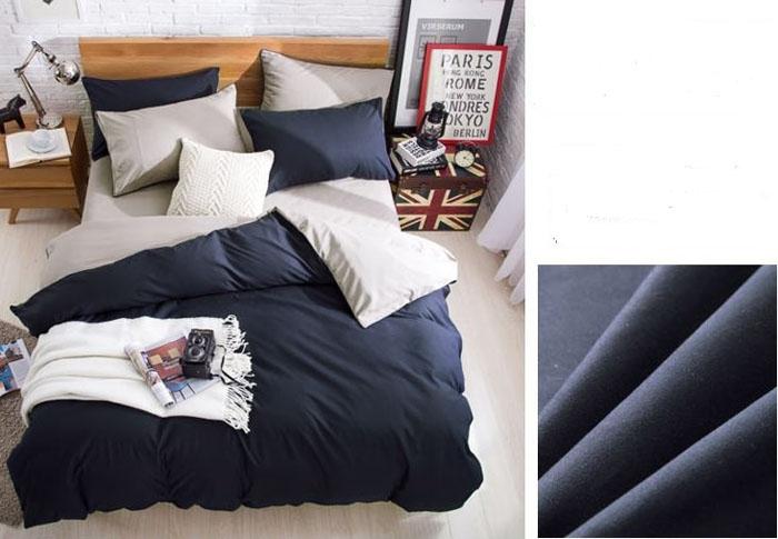 Homeinn 4Pcs Blue High Quality Pure Color Bedding Set/ Duvet Cover as picture 6*6