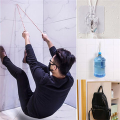 20 Pcs Adhesive Hooks Heavy Duty Sticky Wall & Ceiling & Door Waterproof Hooks for Bathroom Kitchen as picture