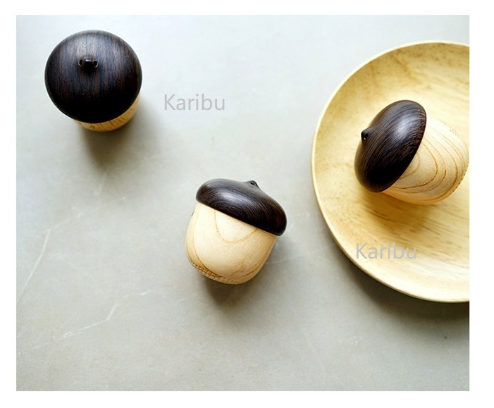 Wooden Nut Bluetooth Speaker, Portable Wireless Creative Subwoofer, Mini Charge Speaker wood  color 48X58mm