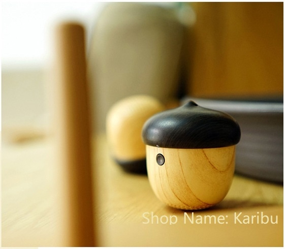 Wooden Nut Bluetooth Speaker, Portable Wireless Creative Subwoofer, Mini Charge Speaker wood  color 800mAh normal
