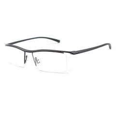Men Half Rimless Titanium Reading Glasses Eyewear +0.5~ +5.0 Single Vision +0.75 strength
