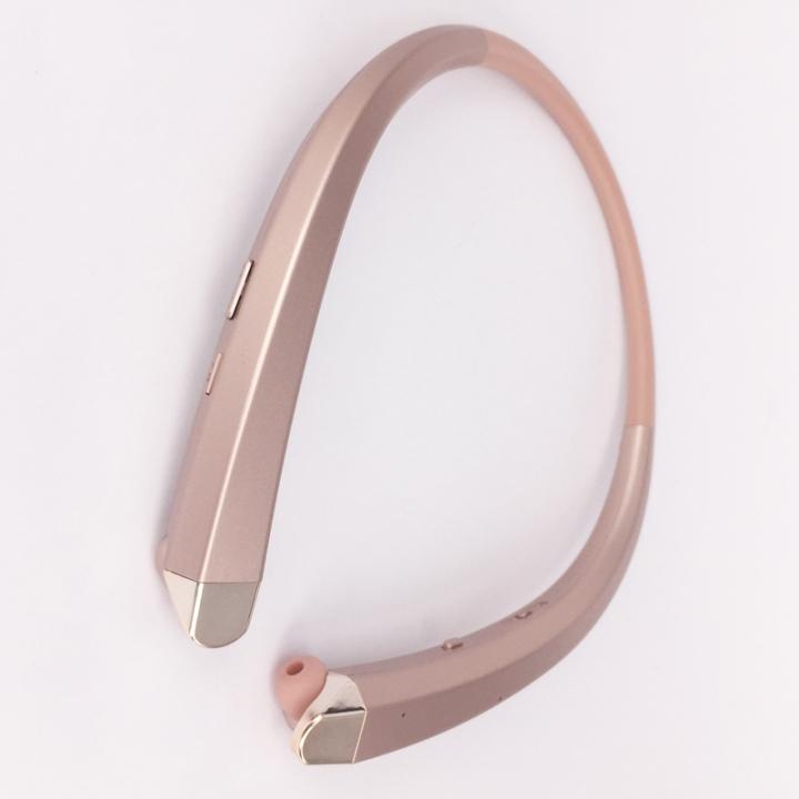HBS-910 HBS 910 CSR 4.0 Tone Wireless Bluetooth Headphones Sports Neckband Earphone Rose Gold