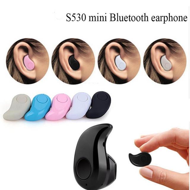 Mini S530 Bluetooth V4.0 Earphone Stereo Wireless Sport Headphones For Smart Phone black