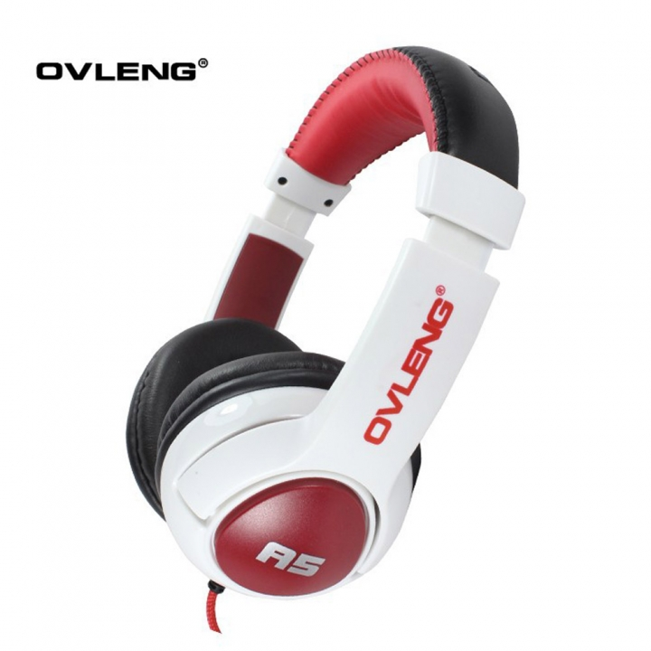 A5 Hifi Studio Stereo Bass Headphone with Mic, 3.5mm Wired Headsets for Iphone Samsung HTC LG white