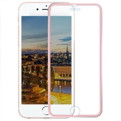 2Pcs - Full Coverage Tempered Glass Screen Protector Metal Edge to Edge for iPhone 6 6s Plus Film Rose Gold 5.5inch