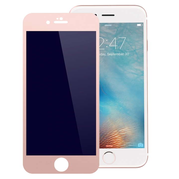 3D Full Cover Tempered Glass Phone Cases For iPhone 6 Plus 6S Plus Case Screen Protector Film Glass rose gold 5.5inch