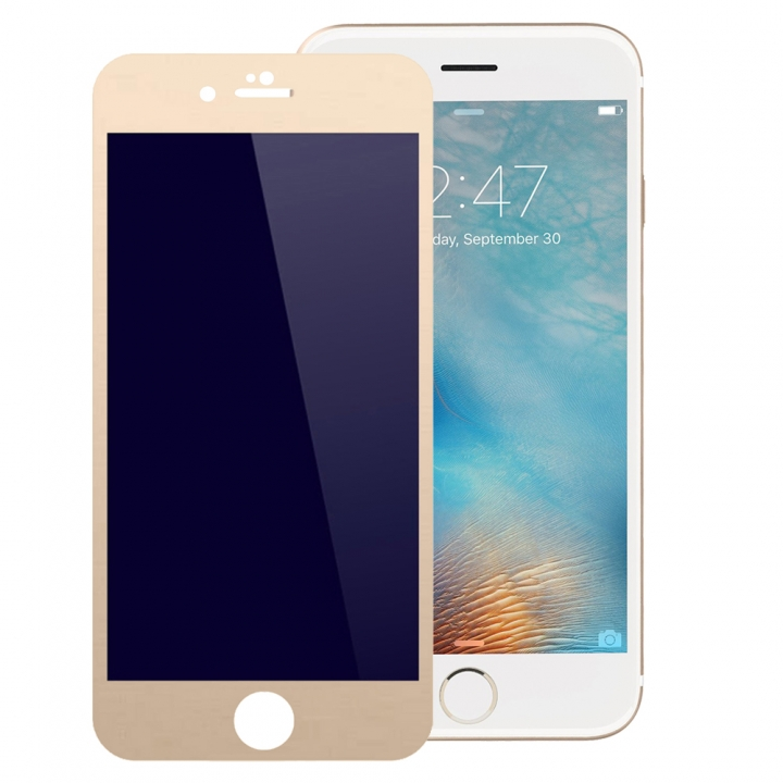 3D Full Cover Tempered Glass Phone Cases For iPhone 6 Plus 6S Plus Case Screen Protector Film Glass gold 5.5inch
