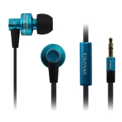 ES-900M Stereo Bass Earphone Earbuds with Noodles Cable 3.5mm In-ear Wired Headsets blue