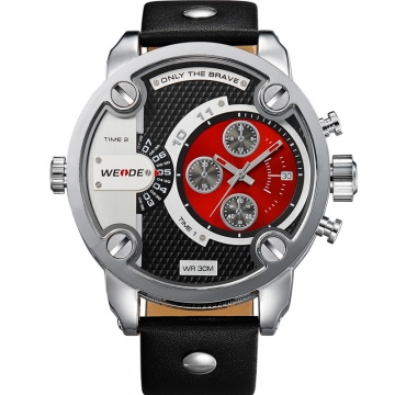 Men's Fashion Casual Reloj Quartz Watch Digital LED Military Diving Waterproof Men Wrist Watches red one sizde