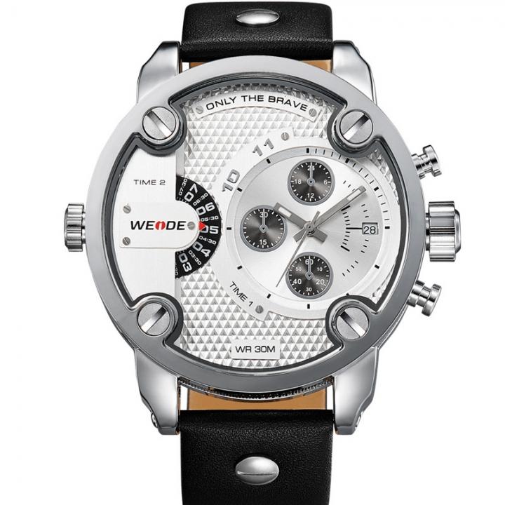 Men's Fashion Casual Reloj Quartz Watch Digital LED Military Diving Waterproof Men Wrist Watches white one sizde