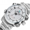 Stainless Steel Quartz Watches Water Resistant Analog Automatic Watch Clock for Business Men white one sizde