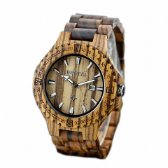 Quartz Wooden Watch Men Causual Male Gentlemen Classic Wristwatch Sports Unisex  023A Zebra Wood one sizde
