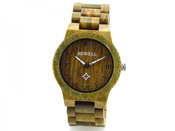 W065A Men Wooden Watches Luxury Brand Automatic Lightweight Luminous Pointers Cheap Watches green sandalwood one sizde