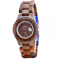 Wooden Watch Men's Brand Design Watch Handmade Automatic Date Displayb for Men Wrist Watches red sandalwood one sizde