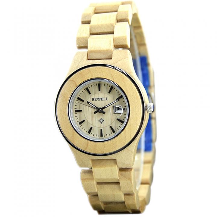 Wooden Watch Men's Brand Design Watch Handmade Automatic Date Displayb for Men Wrist Watches maple wood one sizde