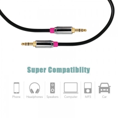 3.5mm Auxiliary Audio Cable AUX Cord for Car / Home Stereos,Speaker,iPhone iPod iPad,Sony Beats Ect black 1.5M