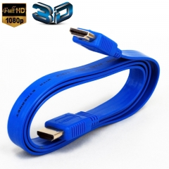 3.3Feet High Speed HDMI To HDMI Cables -Supports Ethernet, 1080P, 3D, and Audio Return (Blue)