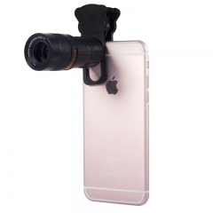 5 in 1 Universal Clip On Cell Phone Camera Lens Kit for iPhone / Samsung HUAWEI Most Smartphones black 9X