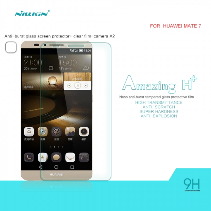 H+ Anti-Explosion Tempered Glass Screen Protector for HUAWEI Mate 7 clear h+