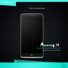 Tempered Glass Anti-fingerprints 0.33mm Ultra Thin 9H Hardness Screen Protector for LG G Stylo clear h