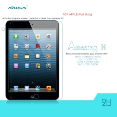 Tempered Glass Anti-fingerprints 0.33mm Ultra Thin 9H Hardness Screen Protector for Ipad MINI3 clear h
