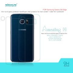 Amazing H Nanometer Anti-Explosion Tempered Glass Back Protector for Samsung Galaxy S6(G920F) clear h