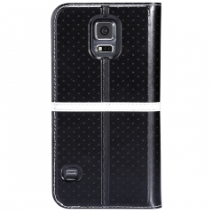 New Ice Leather Case for Samsung Galaxy S5- Retail Packaging balck a
