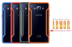 Ultra-thin Armor-border Series Phone Cover for Samsung A5000 - Retail Package Orange a