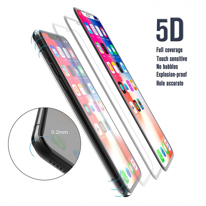 5D Tempered Glass Full Cover Explosion-proof Screen Protectors For iPhone X 6 7 8 Plus clear iphone x