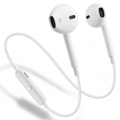 S6 Wireless Bluetooth 4.1 Headphones with Mic Sport Stereo Headset,Sweatproof Earphones, Earbuds white with box