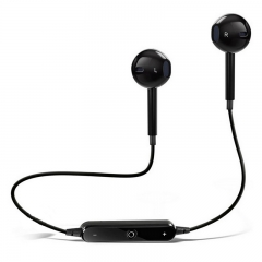 S6 Wireless Bluetooth 4.1 Headphones with Mic Sport Stereo Headset,Sweatproof Earphones, Earbuds black with box