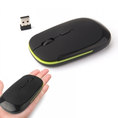 2.4G Slim Wireless Mouse Portable Mouse with USB Receiver, for Notebook, PC, Laptop, Computer, Mac BLACK WIRELESS