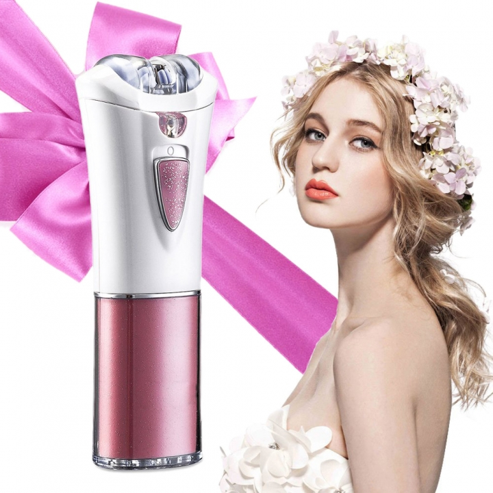 Electric Women's Epilator Hair Removal with Light,  Full Body Hair Shaver Bikini Trimmer for Lady Pink+white Cordless