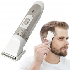 Hair Clippers Hair Trimmer Electric Haircut Kit Rechargeable Battery for Men Kids Adults Silver Universal