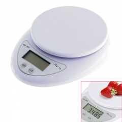 Multifunction Electronic Kitchen and Nutrition Digital Food Scale (5kg X 1g) wHITE B05