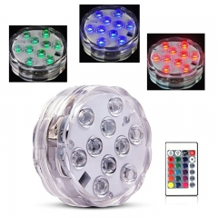 Underwater RGB Led Waterproof Lights,Remote Controlled-Battery Powered, for Fountain Vase Hookah ect Colorful 21keyboard